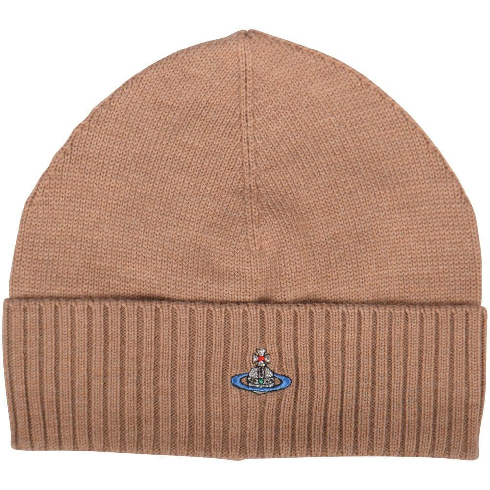 b2af7a16131 Vivienne Westwood Beige Orb Beanie Hat in Natural for Men - Lyst