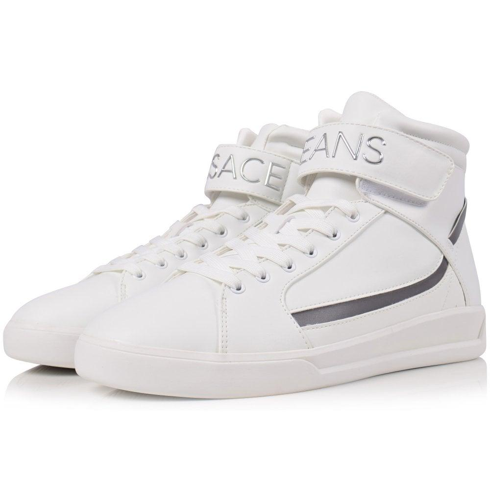 versace jeans high top trainers