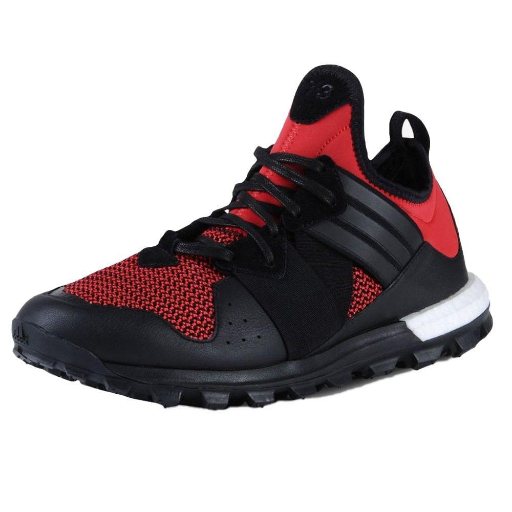 Y-3 Leather Black/red Response Tr Boost for Men