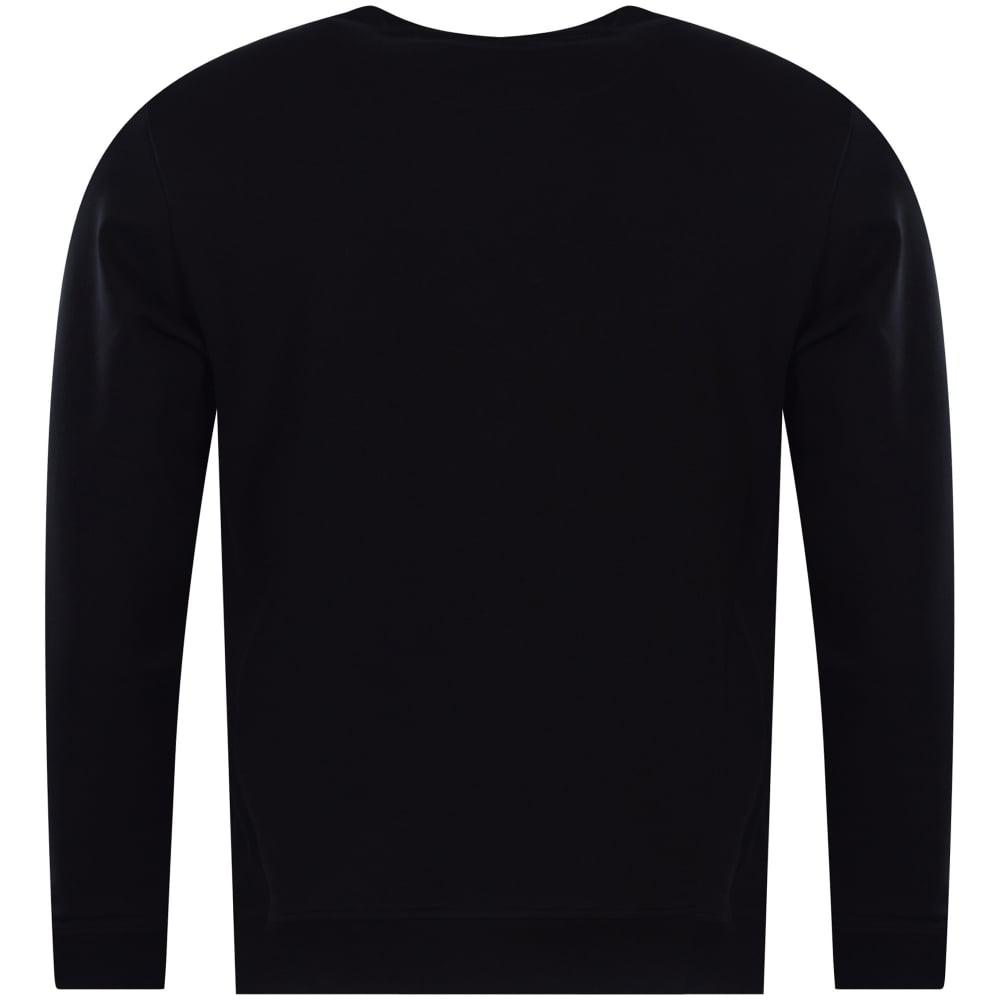Love Moschino Leather Moschino Black Sweater for Men