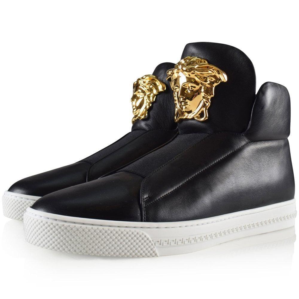 versace black high tops