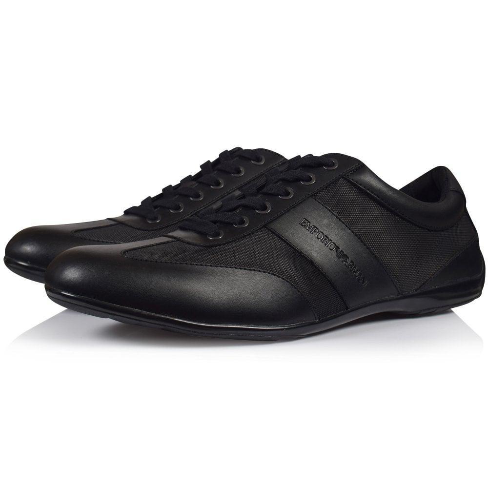 Emporio Armani Leather Black Formal