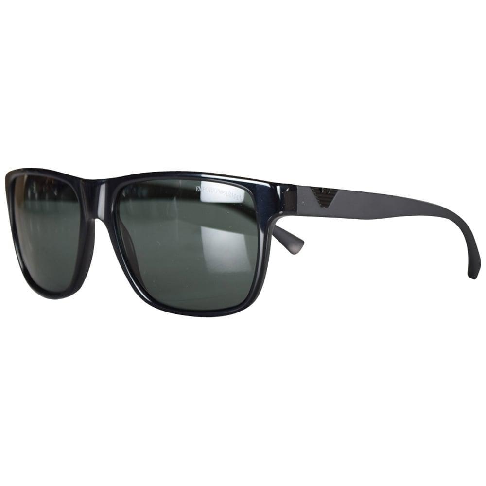 24545144338 Emporio Armani Black Contrast Wayfarer Sunglasses for Men - Lyst
