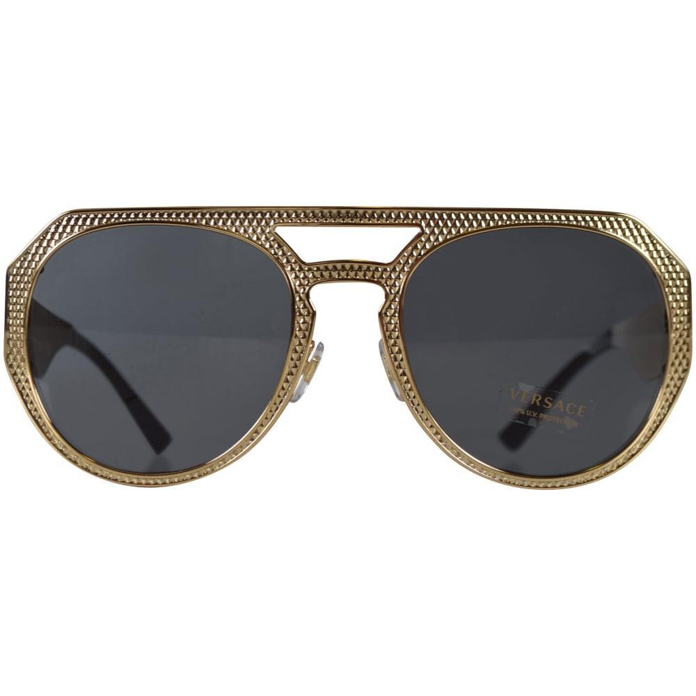 59c803610a79 Versace - Multicolor Accessories Gold Frame Aviator Sunglasses for Men -  Lyst. View fullscreen