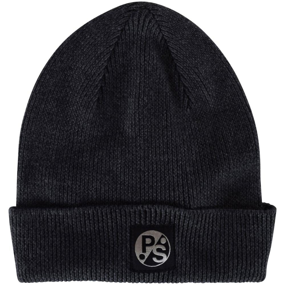 a85c33f93e0 Ps By Paul Smith Paul Smith Grey Logo Beanie in Gray for Men - Lyst