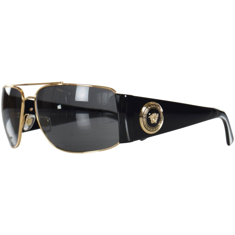 c405fa96c885 Versace Accessories Black gold Retro Medusa Frame Sunglasses in ...