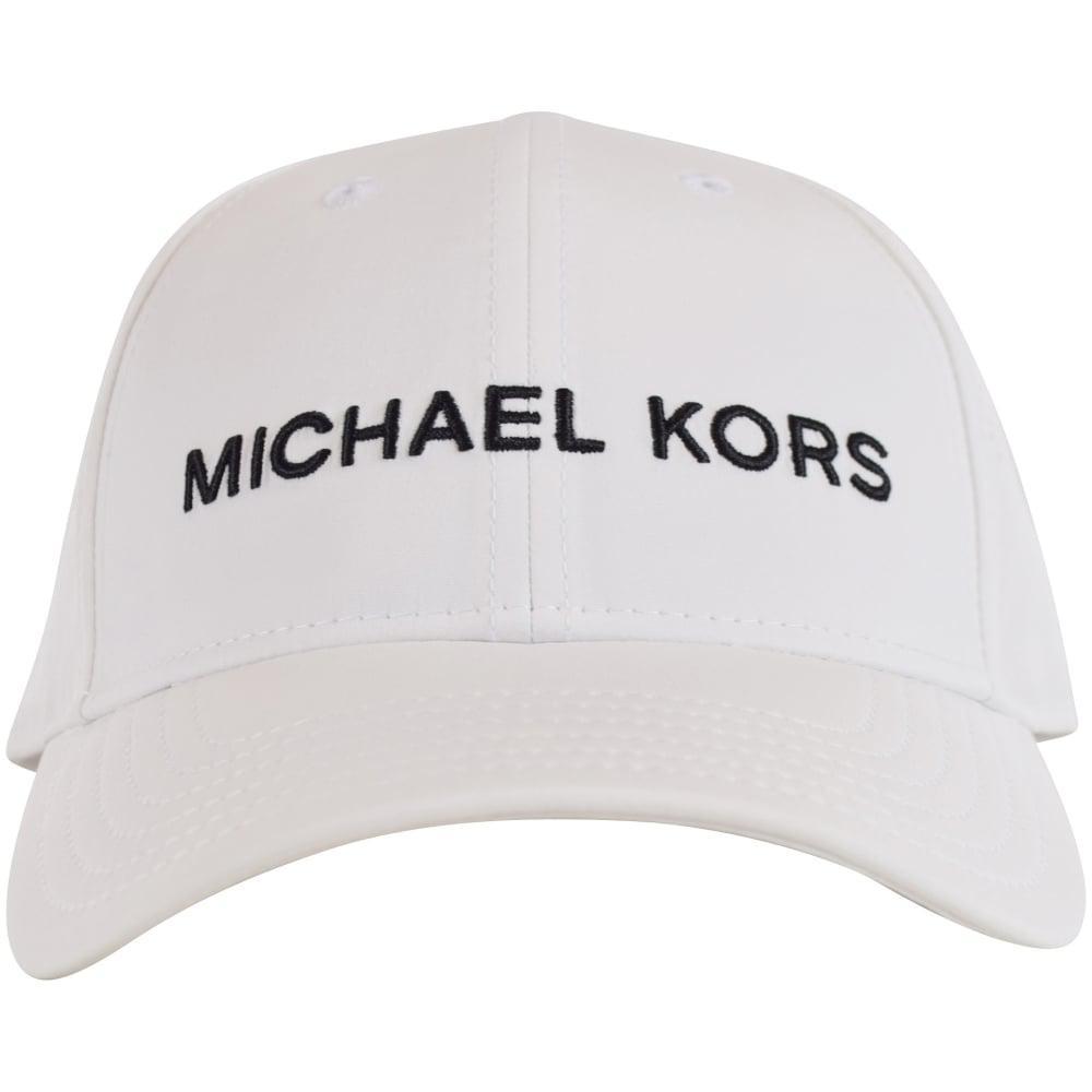 Lyst - Michael Kors White Cotton Cap in White for Men 7c1730626439