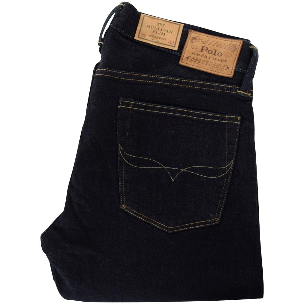 5c898779 Polo Ralph Lauren Dark Blue Stretch Slim Denim Jeans in Blue for Men ...