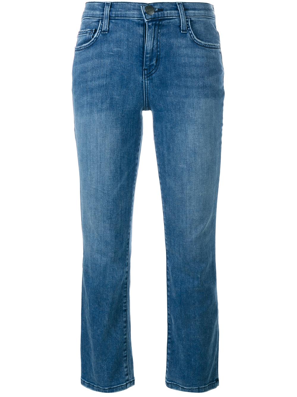 current elliott cropped kick flare jeans in blue denim lyst. Black Bedroom Furniture Sets. Home Design Ideas