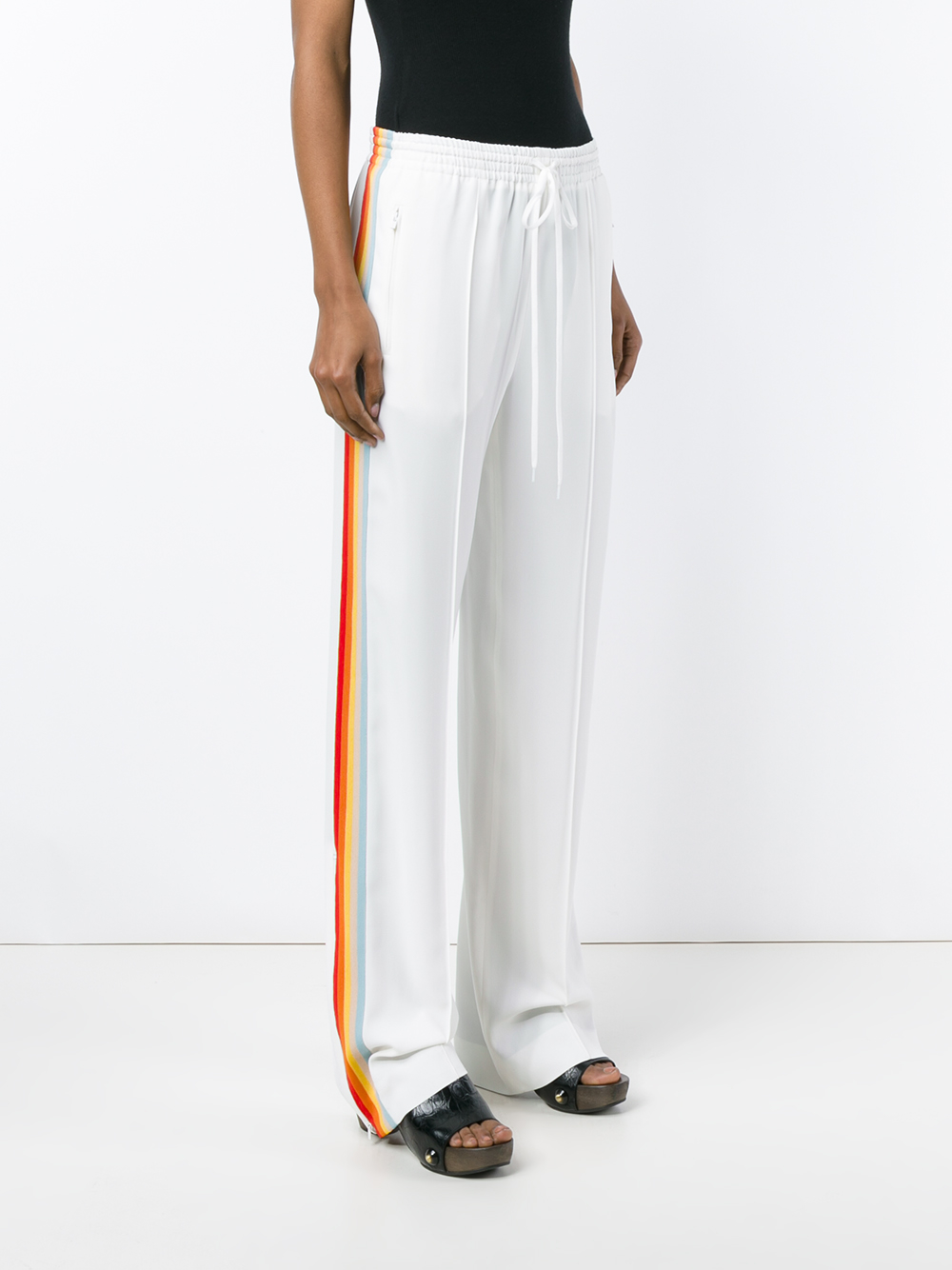 Lyst Chlo 233 Rainbow Stripe Track Pants In White