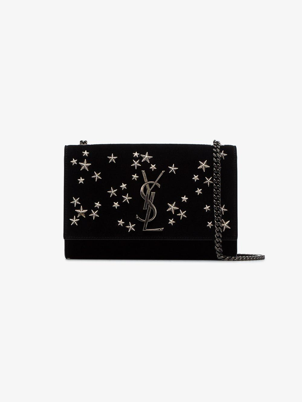 Saint Laurent - Black Kate Star Embellished Suede Shoulder Bag - Lyst. View  fullscreen 63abd4704d1ce