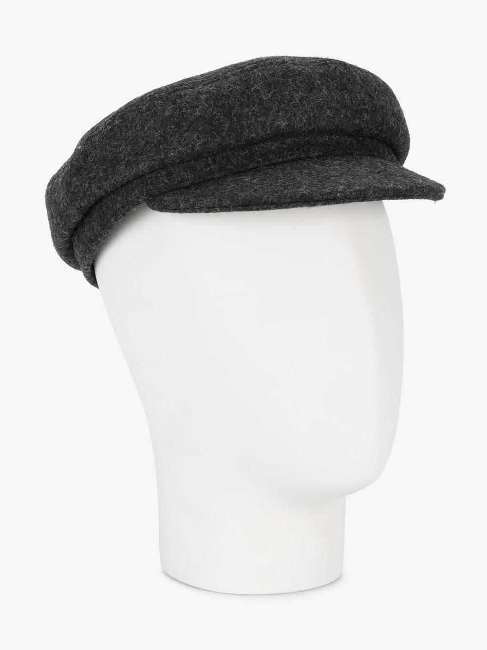 17c08d31a1c Lyst - Isabel Marant Evie Wool Baker Boy Hat in Gray
