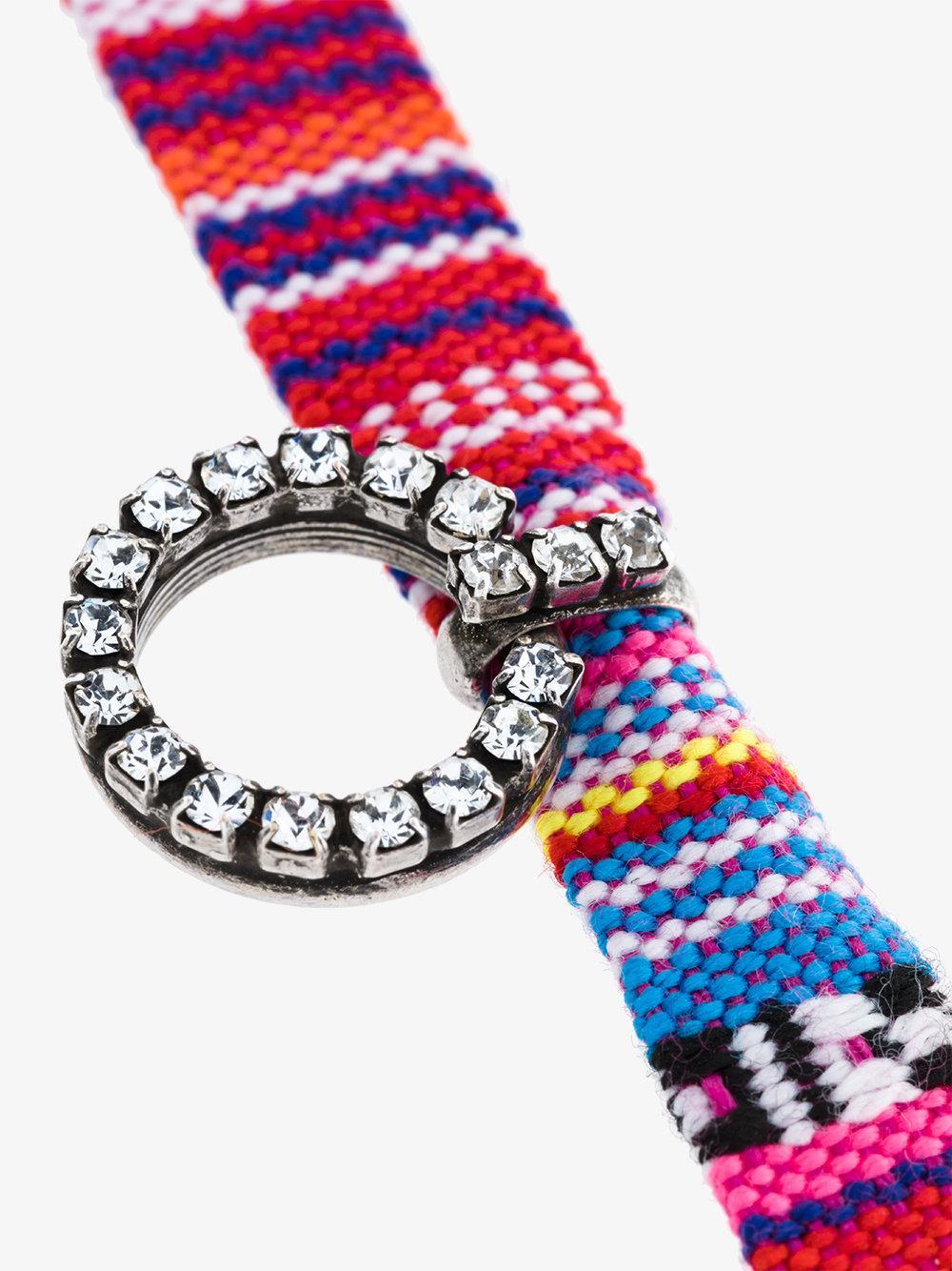 DANNIJO Cotton Sabra Choker With Circle Pendant in Blue