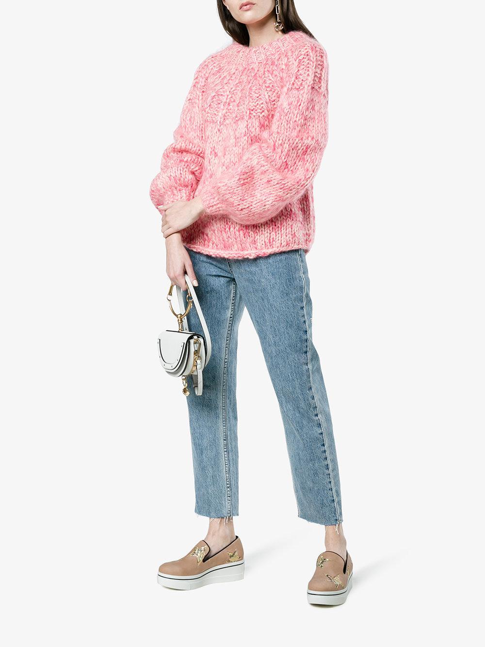 Stella McCartney Rubber Pink Binx 45 Slip On Platform Sneakers in Beige (Natural)