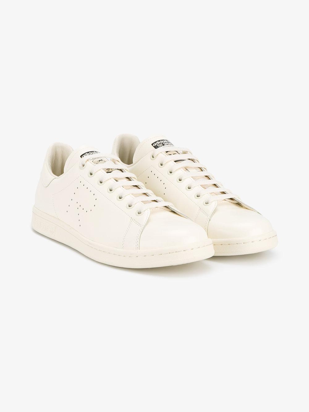 adidas stan smith formatori in cuoio bianco
