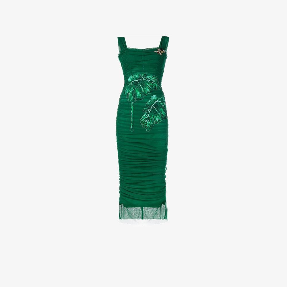 Dolce & Gabbana Sleeveless Embellished Tulle Bodycon Dress ...