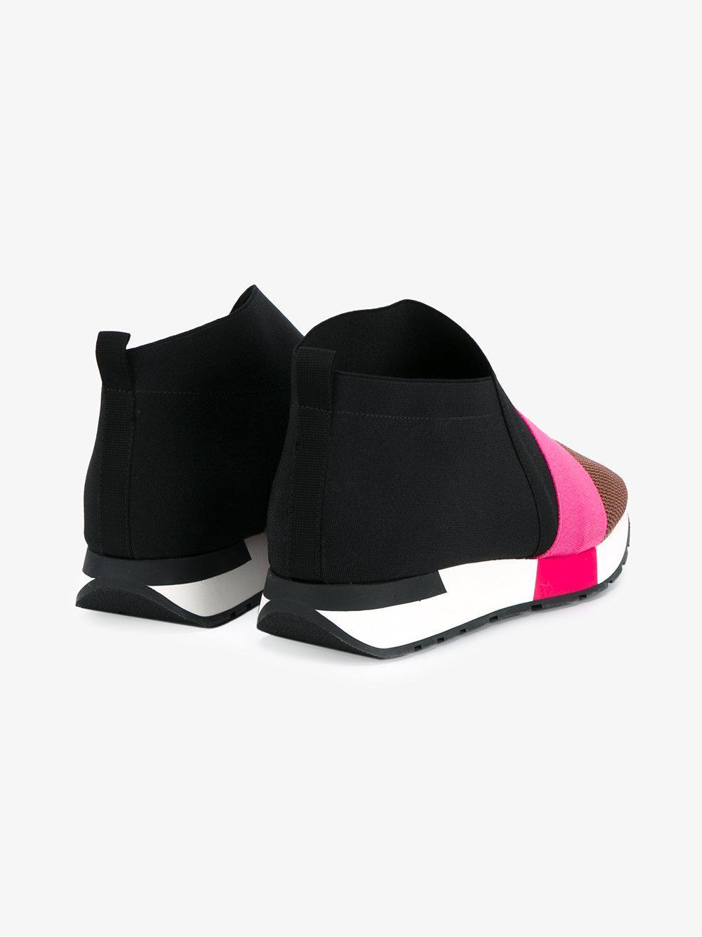 Lyst Balenciaga Race Runner Wedge Heel Sneakers In Black