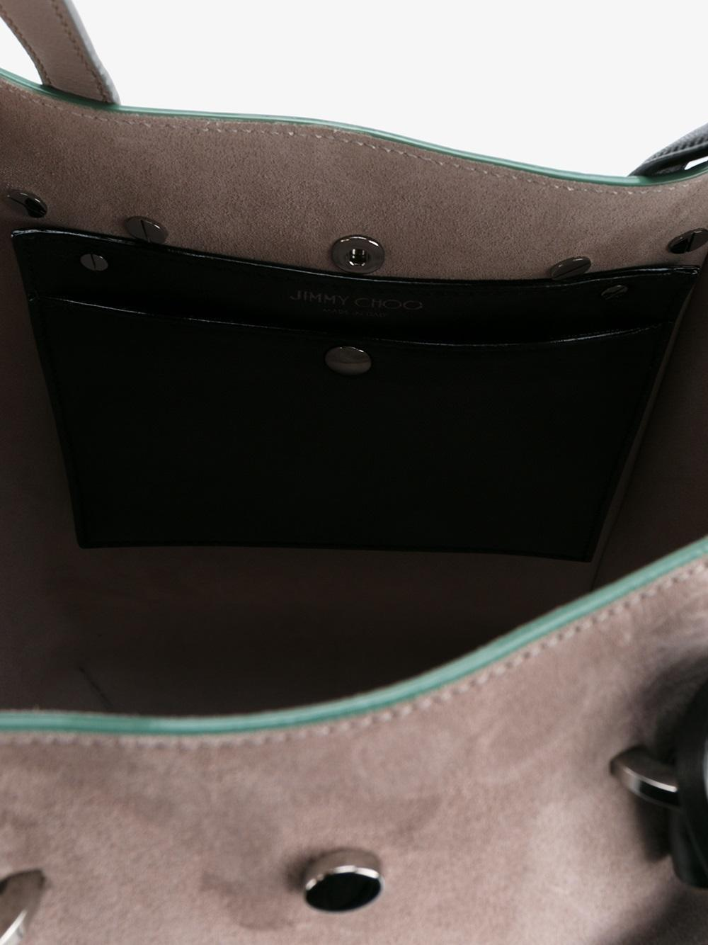 Jimmy Choo Leather Twist Tote Bag in Grey (Grey)