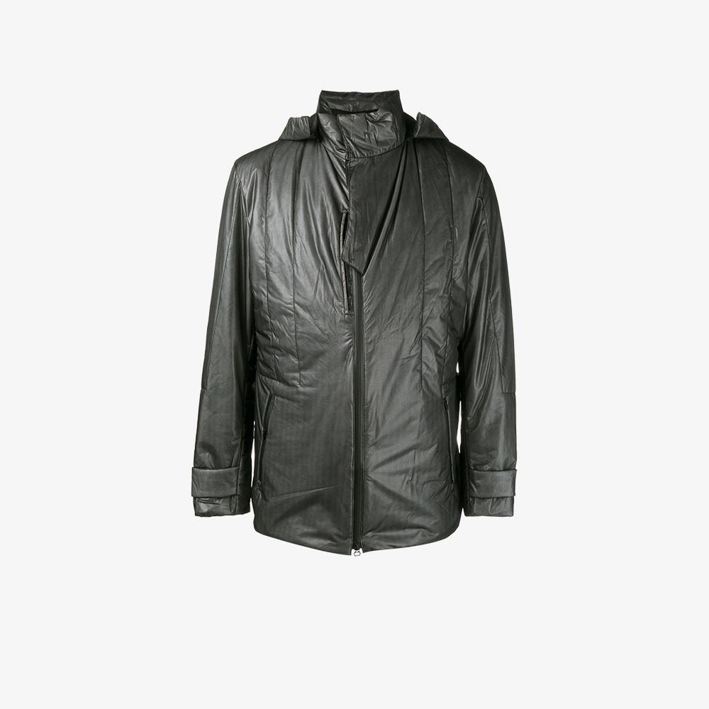 Y-3 Synthetic Hooded Sports Jacket in Black for Men