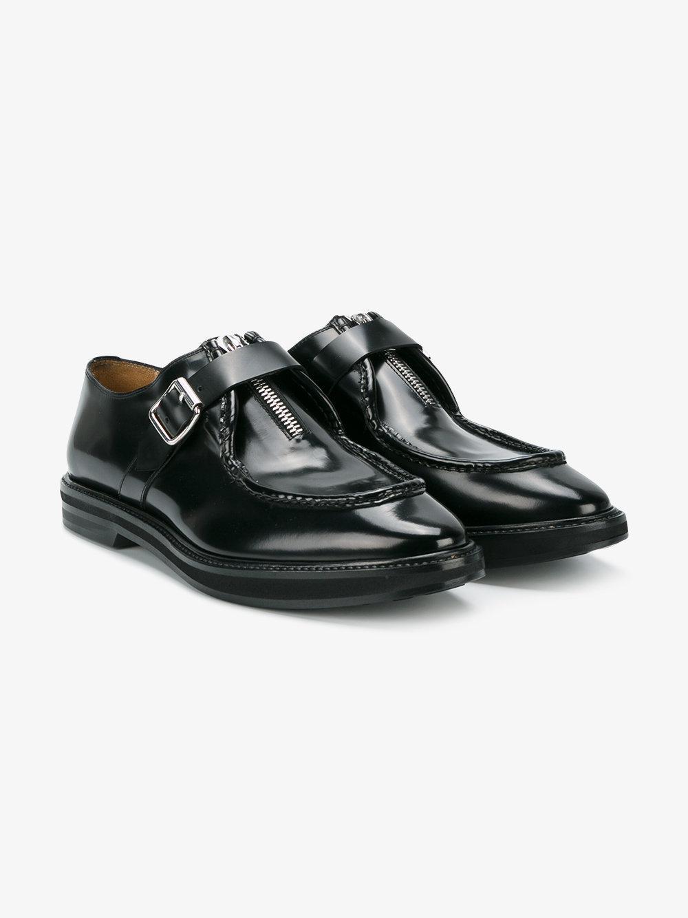 Beige Joggers Black Shoes Men