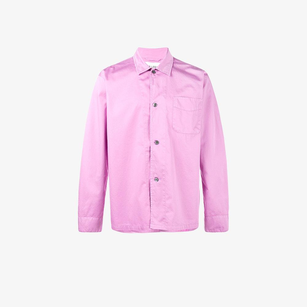 Lyst our legacy long sleeve shirt in pink for men for Mens pink long sleeve shirt