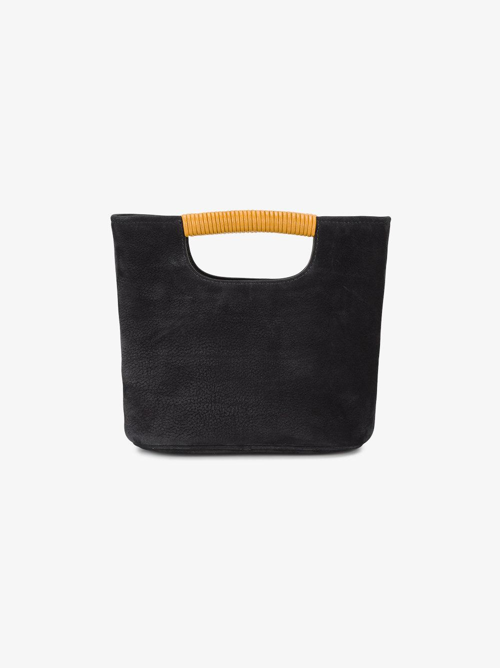 Simon Miller Suede Mini Black Birch Tote Bag in Brown
