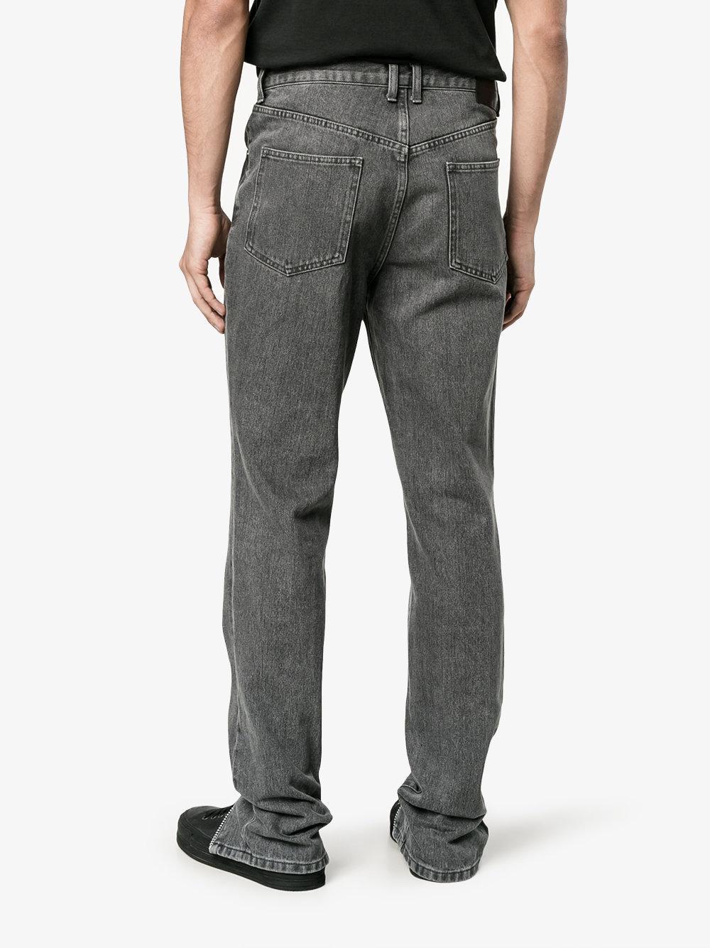 Johnlawrencesullivan Denim Zip Front Jeans in White for Men