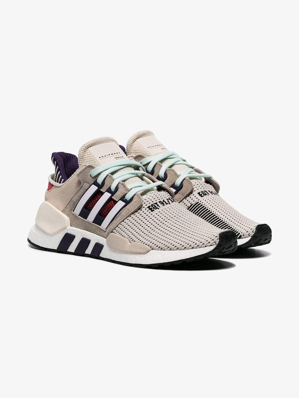 low priced 6c125 16f4c Adidas - Gray Adi Eqt Support 9118 Snkr Gry Multi for Men - Lyst. View  fullscreen