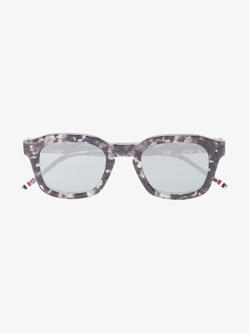49d4f364040 Thom Browne - Gray Grey And Black Square Frame Sunglasses for Men - Lyst.  View fullscreen