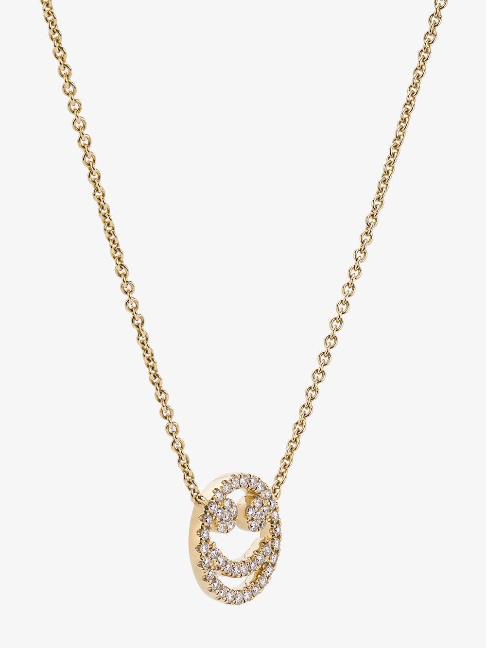 Rosa De La Cruz Yellow Gold And Diamond Smile Necklace in Metallic