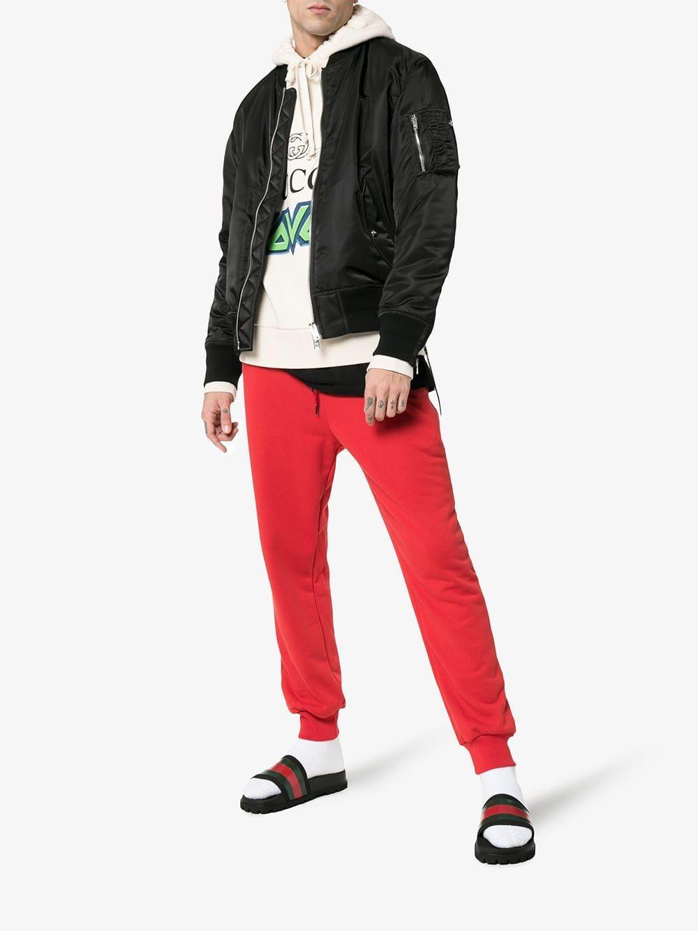 8dec7cabd Lyst - Gucci Black Pursuit Web Slides in Black for Men - Save 13%