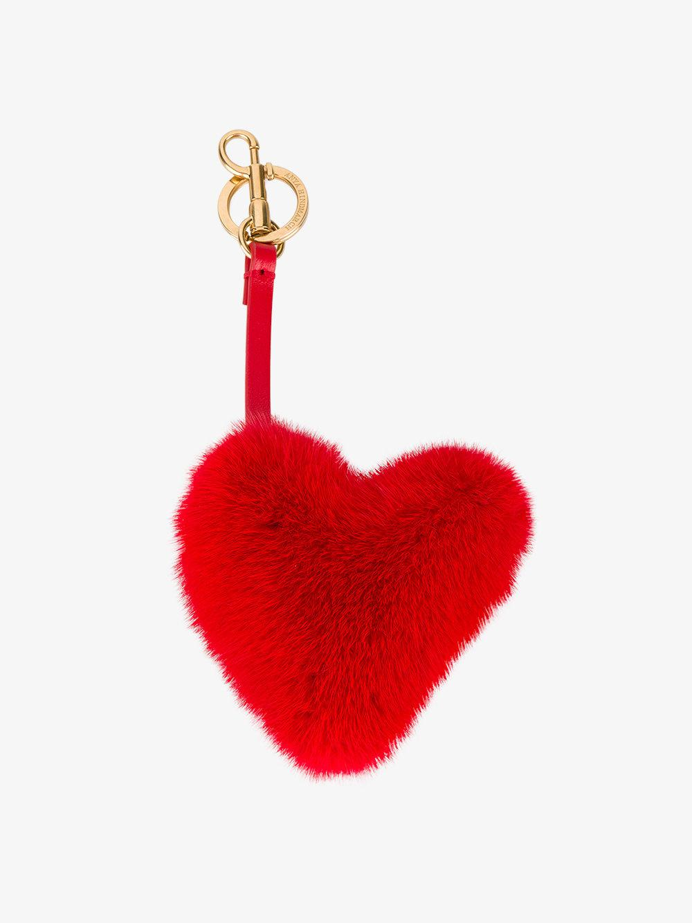 Anya Hindmarch Heart keyring - Red PlOuQ