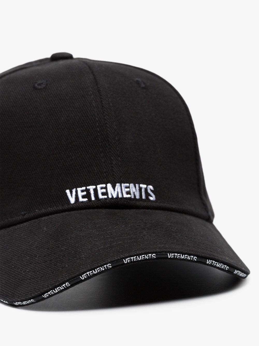 Lyst - Vetements Logo Cap in Black d2c6ba457ac