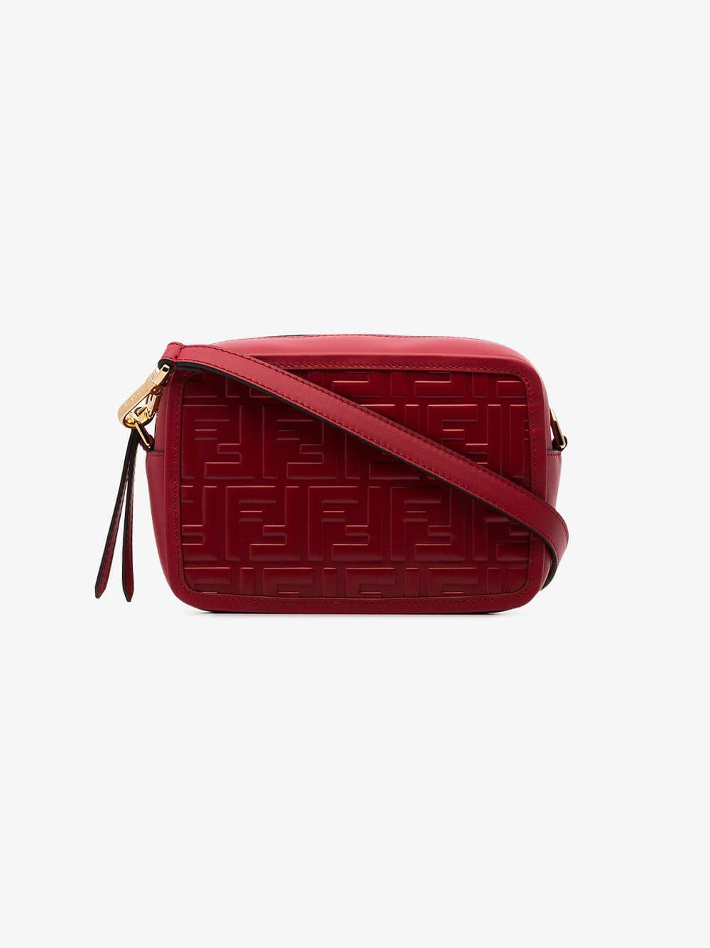 777c1797c0d8 Fendi - Red Mini Camera Case Cross Body Bag - Lyst. View fullscreen
