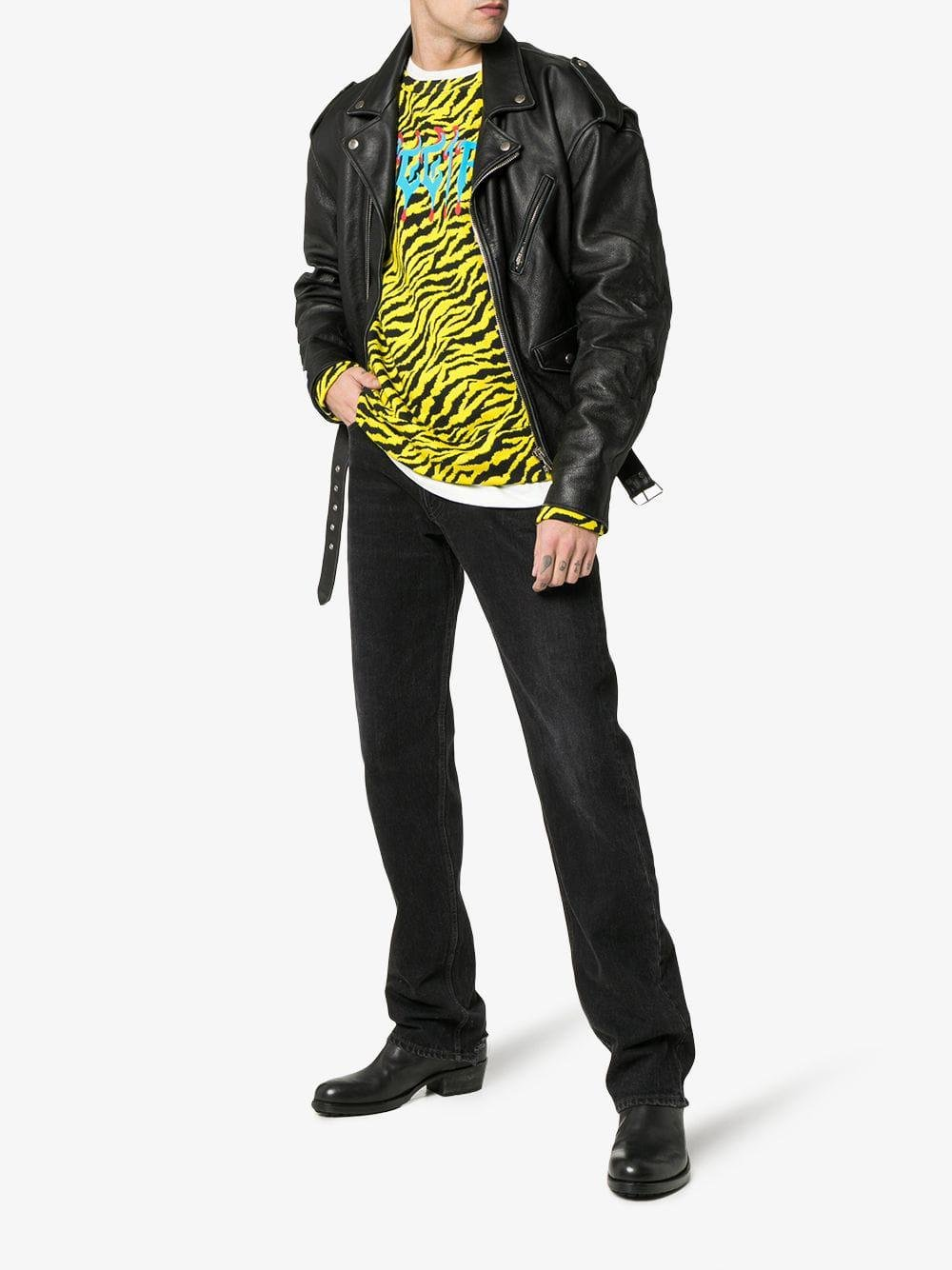 54930d57515 Lyst - Gucci Sweatshirt With Metal Fy Print in Yellow for Men