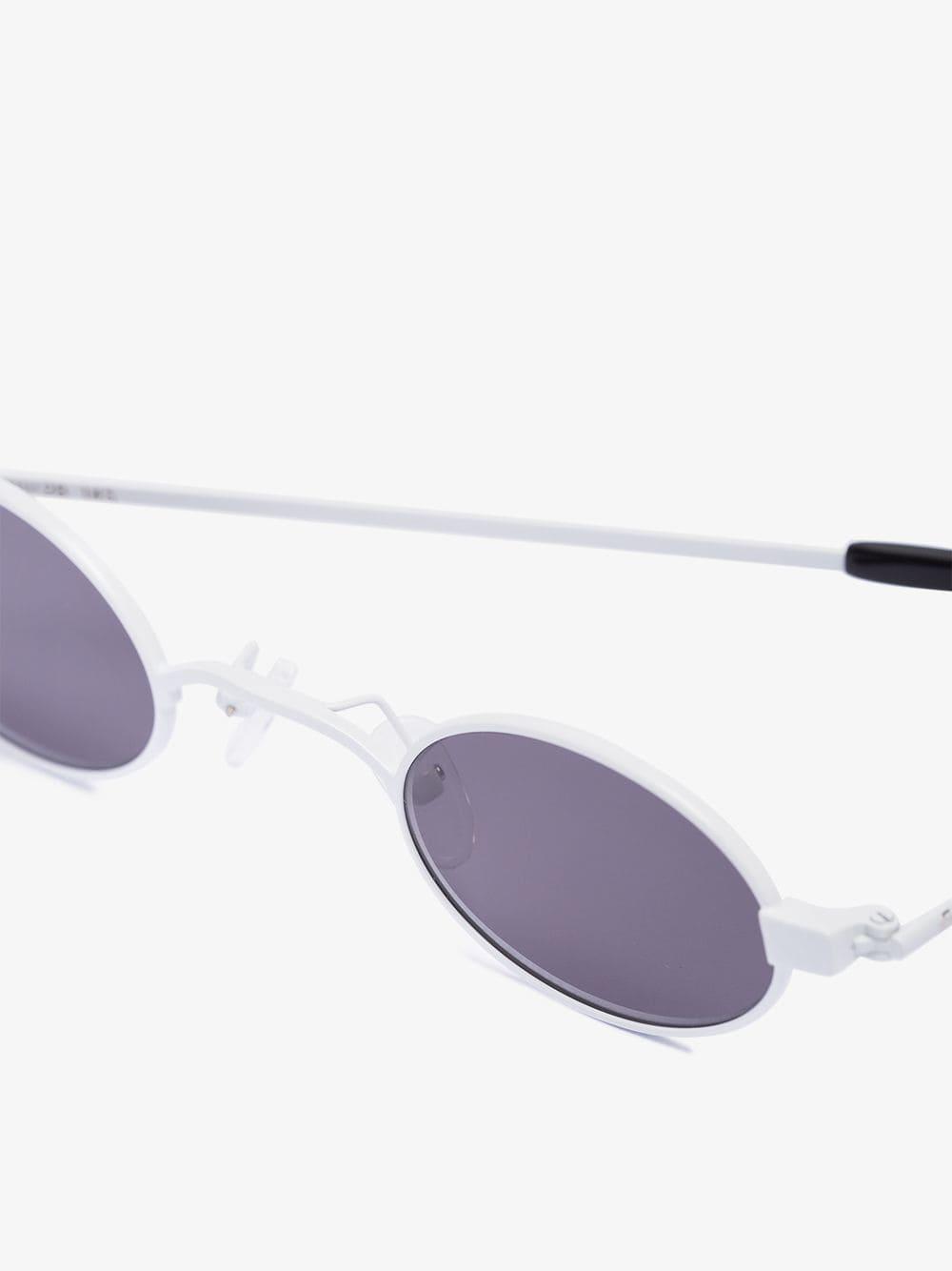 ROBERI AND FRAUD Rubber White Doris Sunglasses