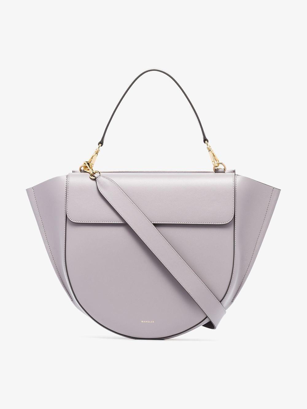 Lyst - Wandler Grey Hortensia Large Leather Shoulder Bag in Gray 8acf0146ea