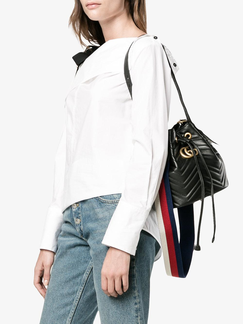 4a9100c1041 Gallery. Previously sold at  Browns · Women s Gucci Bucket Bag Women s Faux  Leather ...