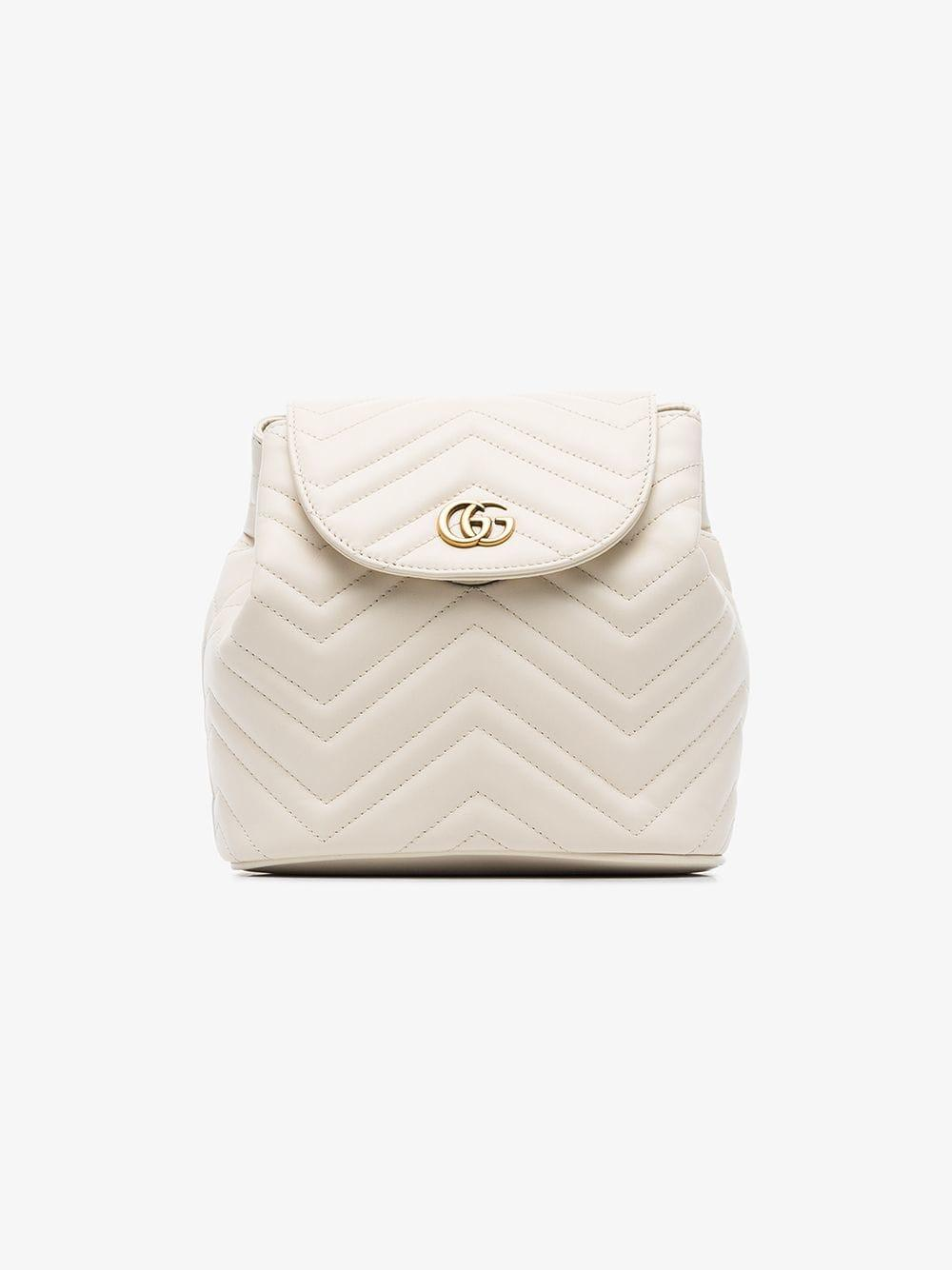 97355ea7498d Gucci - Multicolor White Marmont Matelassé Leather Backpack - Lyst. View  fullscreen