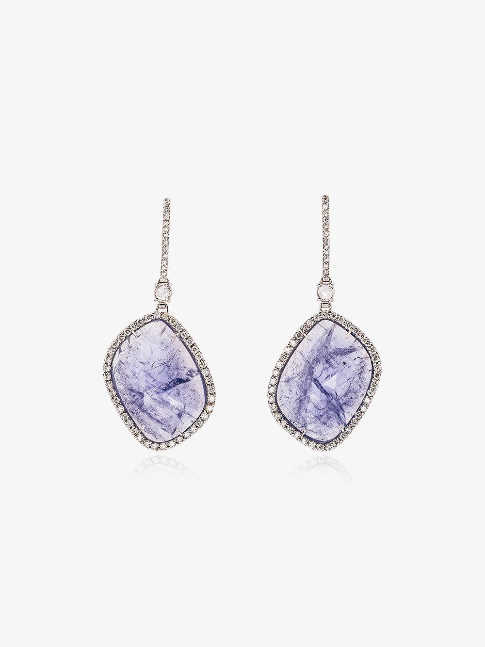 Kimberly McDonald Purple and White Gold Quartz and Diamond Earrings - Metallic 3rhPdf
