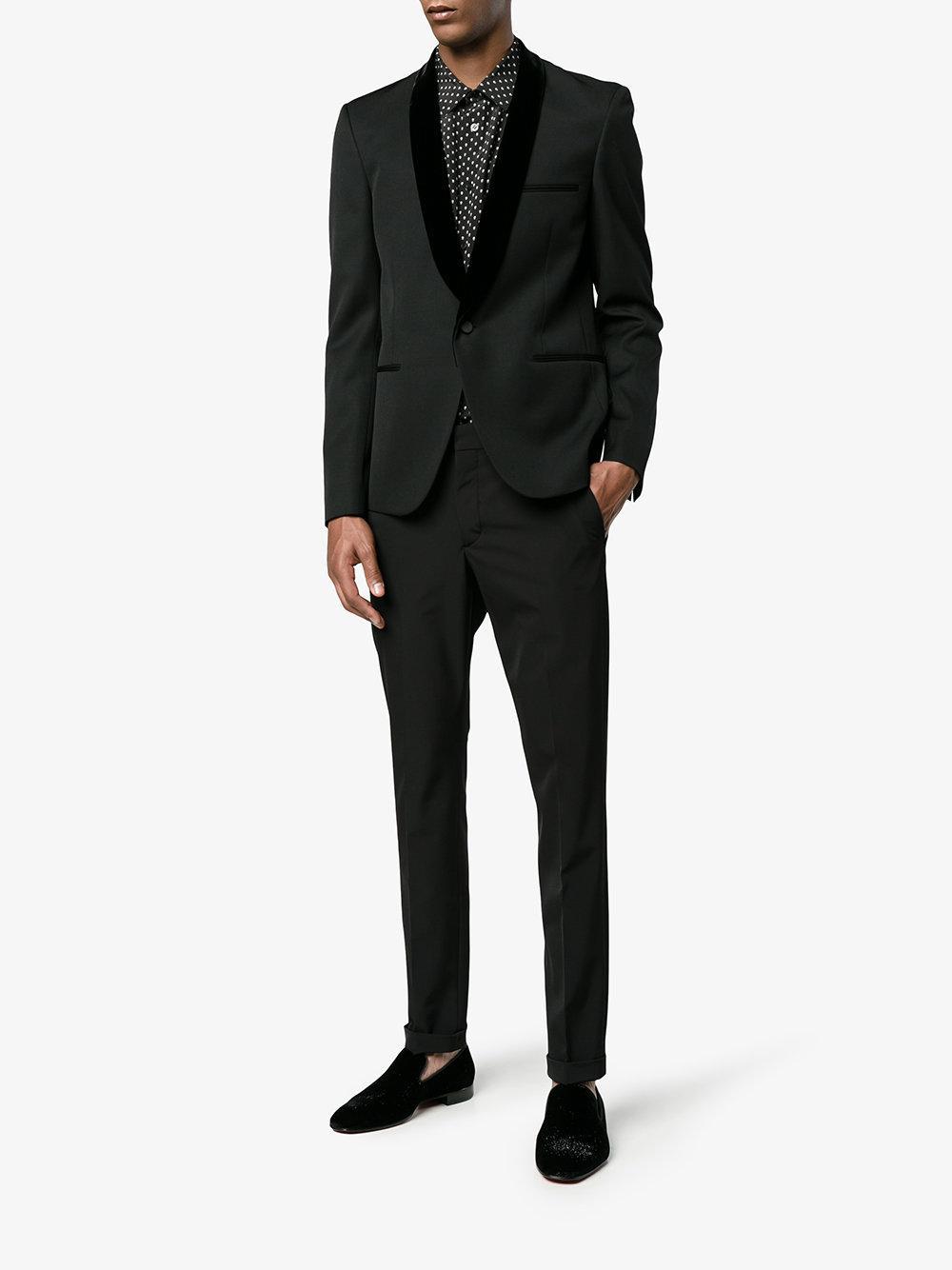 d1e2e2b91a3 Christian Louboutin Black Dandelion Velvet Loafers for men