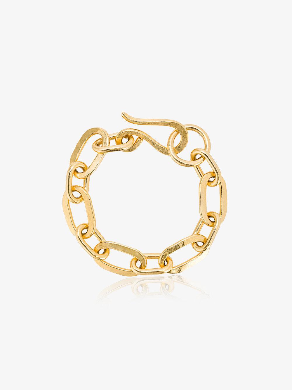 Jelena Behrend Oxidised Gold Jolie Link bracelet - Black 56nYh