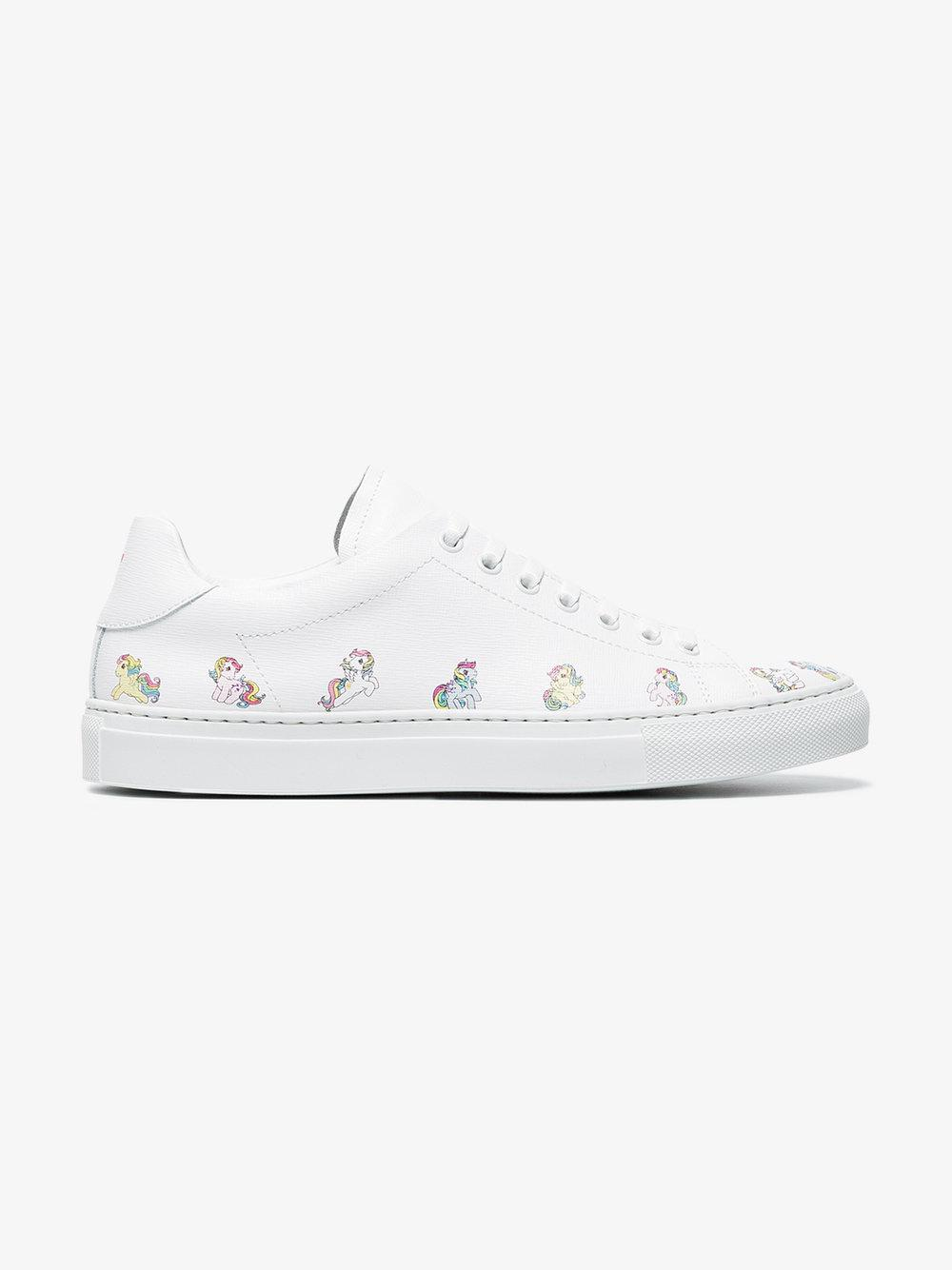 Joshua Sanders Leather My Little Pony Sneakers in White