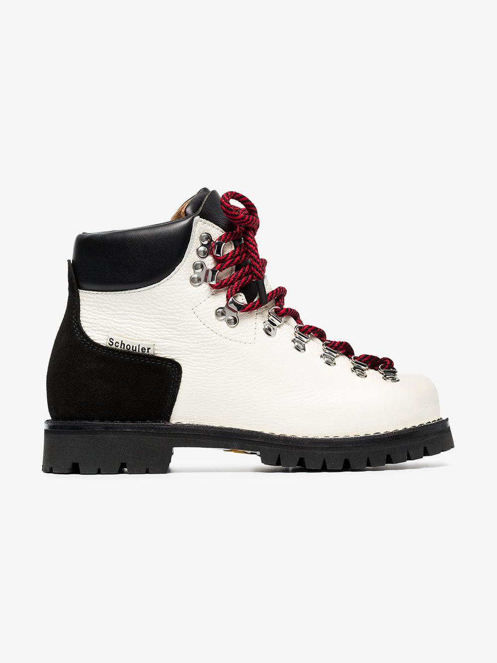 85ddc80a150 Proenza Schouler Chunky Hiking Boots in White - Lyst