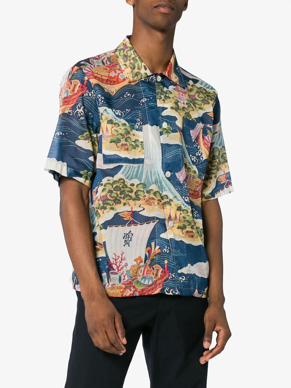 Our Legacy Cotton Seven Seas Vacation Shirt in Blue for ...
