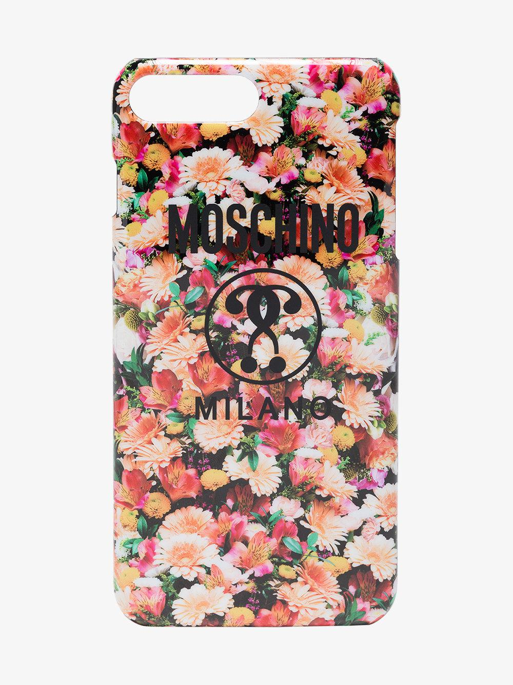 Moschino Floral Iphone 7 Plus Case Lyst
