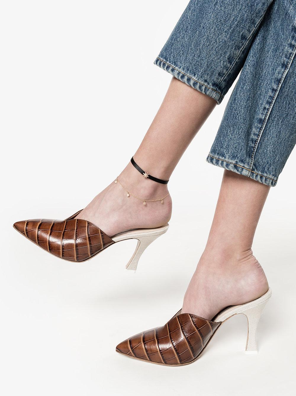 SHAY Dangle Drop Anklet in Grey (Grey)