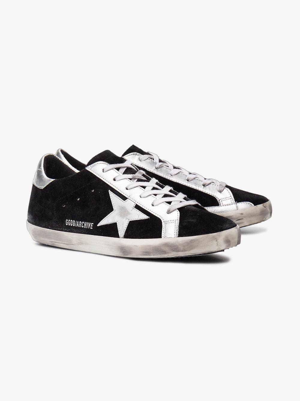 Golden Goose Deluxe Brand Black Suede Superstar Sneakers