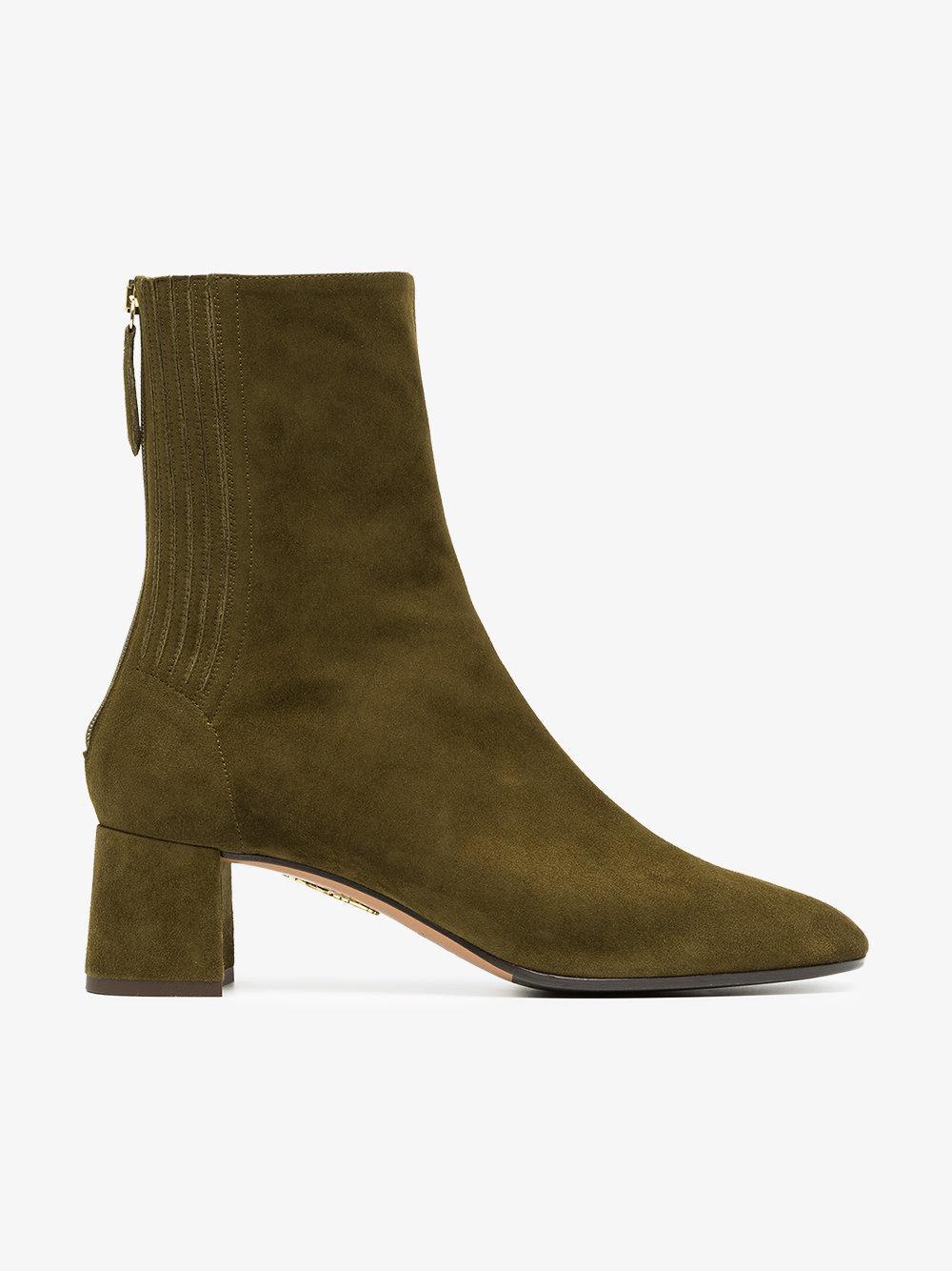 green saint honore 50 suede leather boots Aquazzura 0jLkSzi