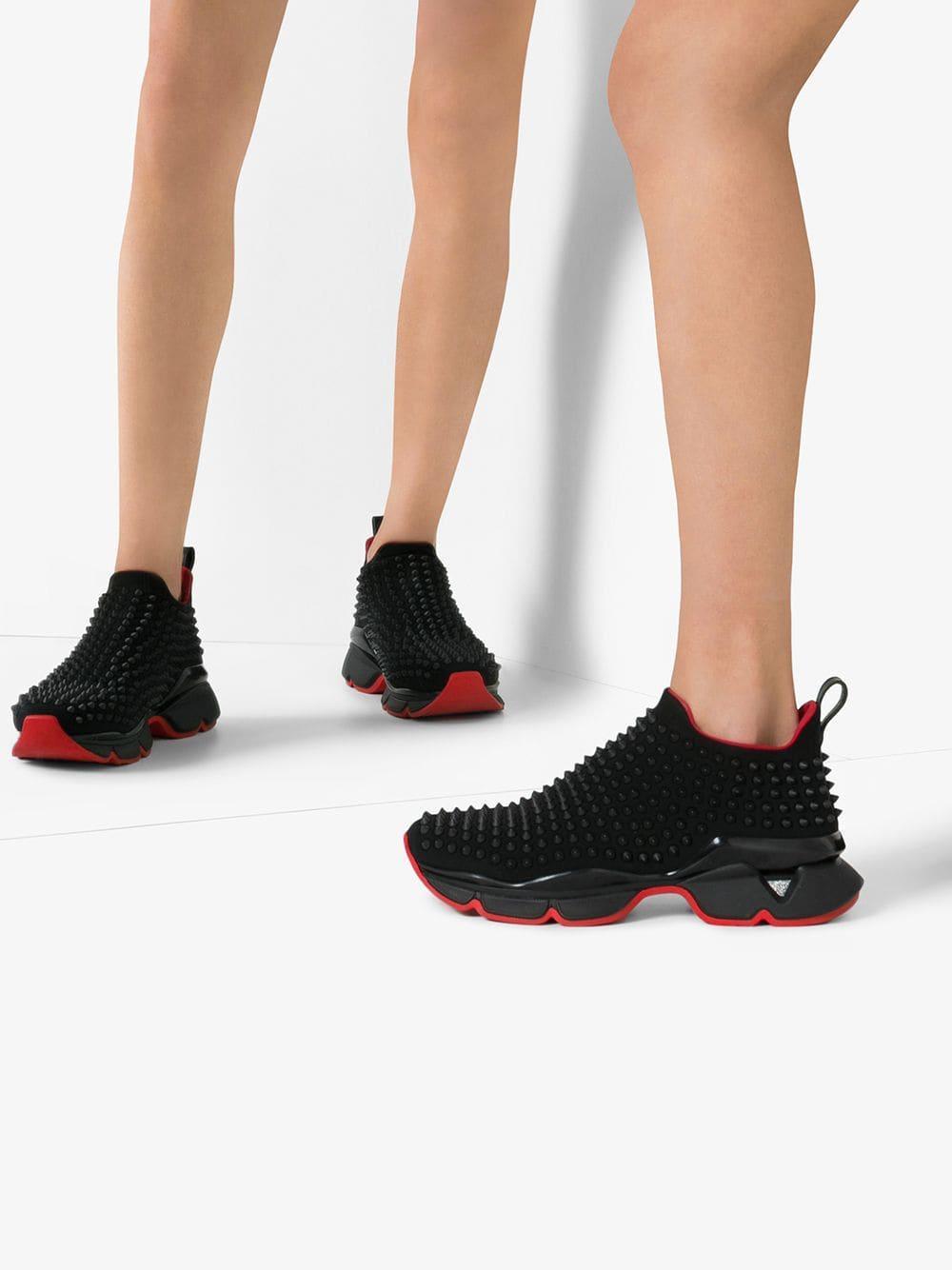 louboutin spike sock sneakers